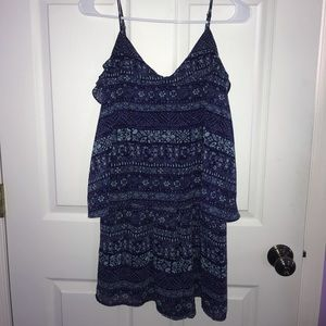 Purple and Teal Layered Romper